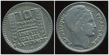 10 francs TURIN  1946 B   grosse tete  rameaux  longs  ( RARE )