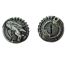 """Norse Foundry RPG D20 Adventure Coins """"1"""" Silver Piece Set of 10 - Sci-Fi  Star"""