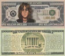 John Lennon Caricature Million Dollar Tract Fun Money Novelty Note +FREE SLEEVE