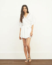 NWT Abercrombie & Fitch LACE WRAP FRONT ROMPER SIZE-MED