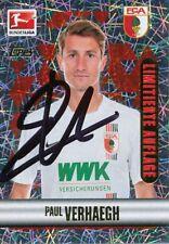 Paul Verhaegh  FC Augsburg  Topps Sticker 2015/16 signiert 402068