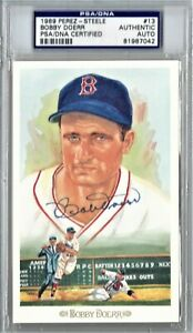 BOBBY DOERR PSA/DNA SIGNED PEREZ STEELE CELEBRATION AUTOGRAPH