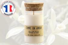 Bougie éco responsable parfumée Vanille des iles - Ingrédient naturel - France