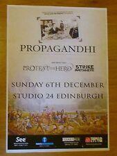 Propagandhi + Protest The Hero - Edinburgh dec.2009 tour concert gig poster