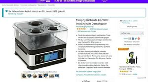 Morphy Richards 48780EE Intellisteam Dampfgarer - neuwertig