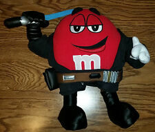 Red M&M Jedi With Lightsaber Star Wars Toy Stuffed Animal Plush Figure