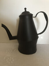 New listing Black ready to paint tin Coffee Pot Craft supplies