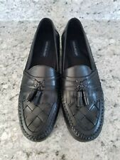 Giorgio Brutini Mens Shoes Loafers Woven Black Leather Austin Size 13