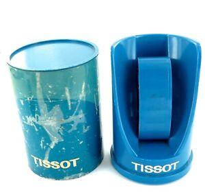 .UNUSUAL VINTAGE CYLINDER SHAPED TISSOT T405 WATCH DISPLAY BOX.