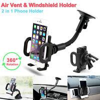 Universal Windshield Mount Car Holder Cradle For iPhone SE 6S 6 7 Plus Samsung