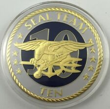 MILITARY CHALLENGE COIN U. S. NAVY SEAL TEAM TEN (10) COIN