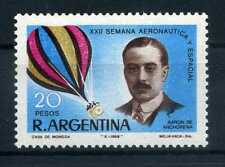 Timbre Argentine 1968 Air Voyage spatial Semaine 1008 menthe BR021