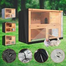 4FT Rabbit Hutch Cover Double Decker Pet Bunny Cage Waterproof Dustcover Outdoor