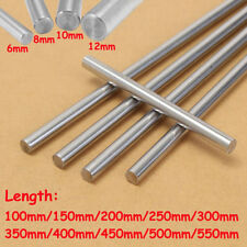 6/8/10/12mm 3D Printer Chromed Smooth Rod Steel Linear Rail Shaft 100~550mm
