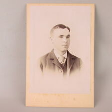 VTG Antique Studio Photo Cabinet Card Teen man Mankato MN Minnesota Blissenbach
