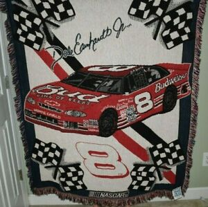 Nascar Blanket Embroidered NWT Dale Earnhardt Jr #8
