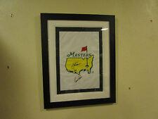 Jack Nicklaus & Arnold Palmer Signed & Framed Masters Golf Flag-SMC 47299