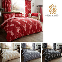 Stags Printed Duvet Cover with Pillowcase Quilt Bedding Set Double King S.King