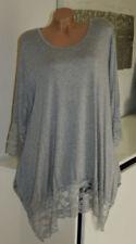 Damenblusen, - tops & -shirts mit Rundhals-Ausschnitt aus Spitze Größe 52