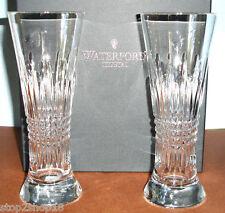 Waterford Crystal Lismore Diamond Pilsner Beer Pair (2) Glasses 165030 New