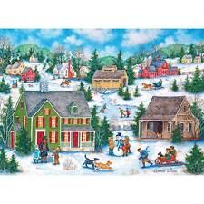 MASTERPIECES HEARTLAND JIGSAW PUZZLE SNOW DAY BONNIE WHITE 1000 PCS #71460
