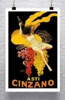 Asti Cinzano Vintage Liquor Advertising Poster Giclee Print on Canvas or Paper