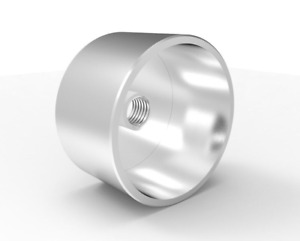 4 x Stainless Steel Hollow Spacers M10 x 52mm W x 50mm L