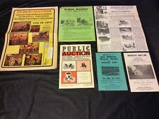 VINTAGE 1970'S ADVERTISING FOR PUBLIC AUCTIONS CARRIAGES SLEIGHS WAGONS