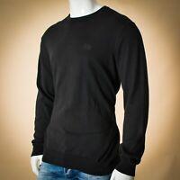 Hugo Boss men sweater size 54 black label cotton long sleeve Genuine
