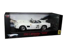 1969 LM FERRARI 250 CALIFORNIA SWB 1/18 WHITE #20 BY HOT WHEELS ELITE T6931