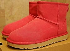 ***NEW*** UGG Womens Classic Mini Canvas Shearling Boots Pink Azalea Size 6 NWB