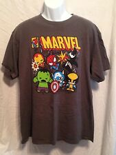 MARVEL T-Shirt Little Super Heros Mans Size XL (46/48) Spider-Man Hulk & More