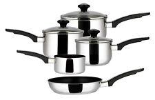 Prestige Everyday 5 Piece Stainless Steel Pan Set Saucepan Frying Pan Milk Boxed