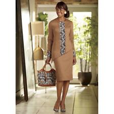 bc8b953392d Ashro Formal Dress Caramel Dresia Skirt Suit Church Dinner Size 14 16W 26W  PLUS