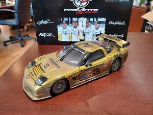 2001 Pilgrim, Dale Sr/Jr, Collins #3 Corvette Gold Chrome Raced 1:18 Action MIB