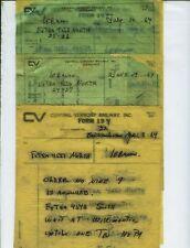 CENTRAL VERMONT RAILWAY TRAIN ORDERS  (16)  LEBANON, CONNECTICUT  1964-1965.