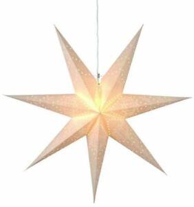 "Best Season Papierstern ""Sensy Star 70"" ca 70x70 cm inkl. Kabel  crème 231-20"
