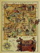 New Mexico Antique Vintage Pictorial Map