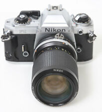Nikon FG Camera and zoom Nikkor 35-105mm Lens - ready to use 35mm film SLR