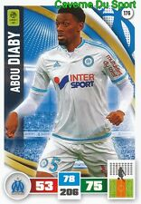 176 ABOU DIABY OLYMPIQUE MARSEILLE OM ARSENAL.FC CARD ADRENALYN 2017 PANINI
