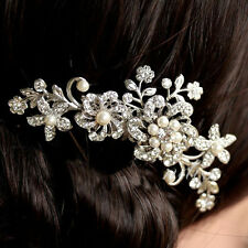 Fashion Beaty Bridal Wedding Flower Pearls Headband Hair Clip Comb Jewelry