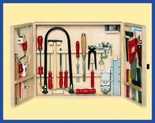 Laubsäge schrank / Werkzeugkasten / Bastelwerkzeuge z.B. Drillbohrer,Fuchssäge