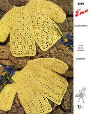 Baby Matinee coat crochet pattern in baby QK (fine DK ) # 0049