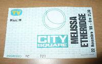 BIGLIETTO TICKET INGRESSO CONCERTO MELISSA ETHERIDGE 22-11-1989 CITY SQUARE