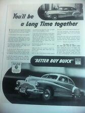 1942 Buick ORIGINAL AD - Great Garage Decor..