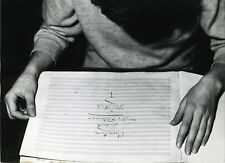 "Score of STRAUSS' ""Fledermaus"" Up for Auction - Original Press Photograph"