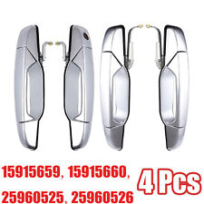 Chrome Outer Outside Exterior Door Handle Set of 4Kit for Chevy Pickup Truck NEW