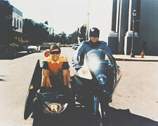 BATMAN BURT WARD ADAM WEST ON BATCYCLE COLOR PHOTO RARE
