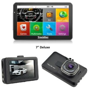 """7""""Truck Sat Navs Deluxe+ Dash Cam +16gb 2020 Mapping Full EU & Back up Maps"""