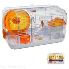 Hamster Habitat Cages Playhouse Mice Gerbil Wheel Exercise Small Animals Houses